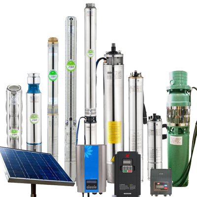 Wholesale 10-500m Max Head Submersible Solar Pump 1-300m3/h Solar Water Well Pumps Solar Water Pumping System Factory